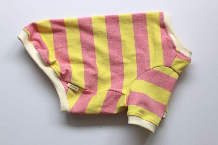 画像1: 【Choice】ふんわり発色中太ボーダーTシャツ ピンク×黄色
