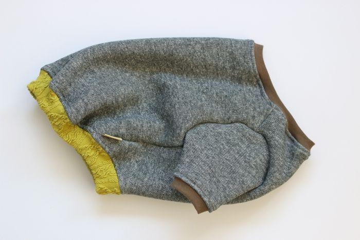 画像1: しっかり厚手の裏起毛トレーナー 黄緑アラン編みリブ