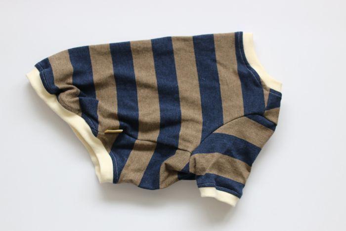 画像1: 【Choice】ふんわり発色中太ボーダーTシャツ 茶色×紺