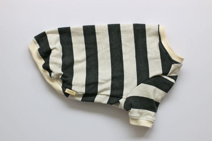 画像1: 【Choice】ふんわり発色中太ボーダーTシャツ 黒×オートミール