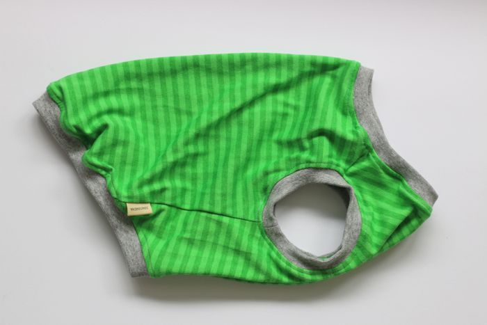 画像1: 【Choice】草色の細ボーダータンク