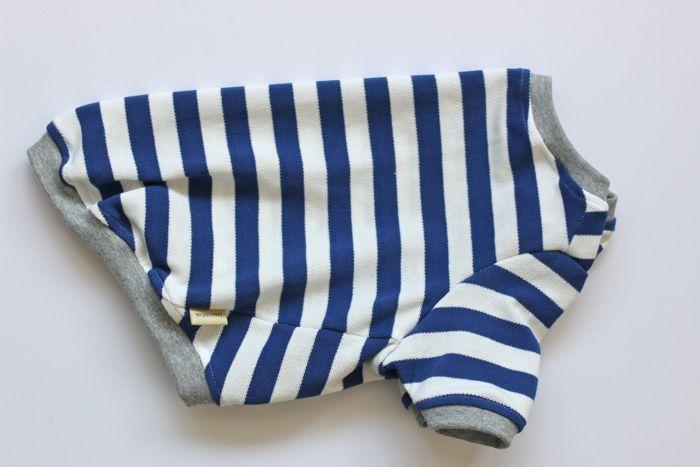 画像1: 【Choice】鹿の子ボーダーTシャツ 青白
