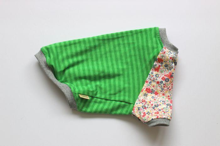 画像1: 花畑×草色ボーダーラグラン